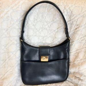 Vintage Gucci GG Convertible Strap Bag Dark Navy